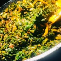 Preeti Sautéed Kale and Spinach - Efo Riro